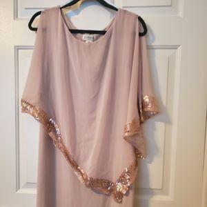 Beige sequined dress